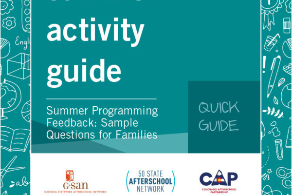 Quick Guide- Summer Programming Feedback: Sample Questions for Families